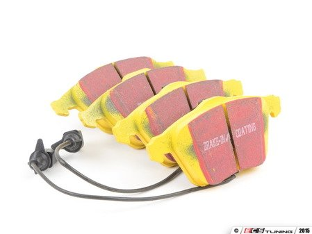 ES#520872 - DP41495R -  Front YellowStuff Performance Brake Pad Set - A race quailty pad that can be used at the track and back home, includes wear sensors - EBC - Audi