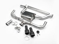 """ES#2828275 - SSXVW272 - 3"""" Cat-Back Exhaust System - Non-Resonated - Get that Exhaust tone you've been looking for! Features 3"""" construction with 4"""" Matte Black """"GT100"""" style tips. - Milltek Sport - Volkswagen"""