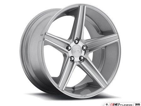 """ES#2862405 - m12518804342KT1 - 18"""" Apex - Set Of Four - 18""""x8"""" ET42 / 18""""x9.5"""" ET50 5x112 - Machined Silver - Niche Wheels - Volkswagen"""