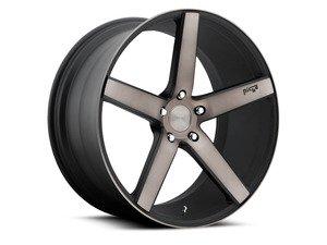 """ES#2864659 - m13419854342KT2 - 19"""" Milan - Set Of Four - 19""""x8.5"""" ET42 / 19""""x9.5"""" ET35 5x112 - Black DDT/Machined - Niche Wheels - Volkswagen"""