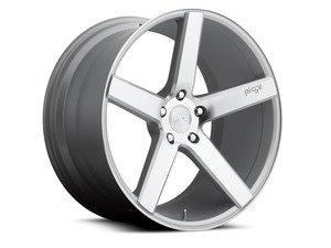 """ES#2864664 - m13519854334KT2 - 19"""" Milan - Set Of Four - 19""""x8.5"""" ET34 / 19""""x9.5"""" ET35 5x112 - Machined Silver - Niche Wheels - Volkswagen"""