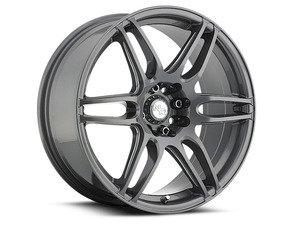 """ES#2864851 - m10518800735KT - 18"""" NR6 - Set Of Four - 18""""x8"""" ET40 5x112/5x114.3 - Anthracite/Milled Spokes - Niche Wheels - Volkswagen"""