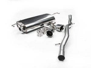 "ES#2828094 - SSXVW025 - MK4 R32 2.5"" Cat-Back Exhaust System - Non-Resonated - Get that Exhaust tone you've been looking for, features a ""Jet"" style tip! - Milltek Sport - Volkswagen"