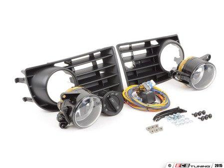 ES#10783 - 1k0998008 - Fog Light Conversion Kit - 5 Bar Grille - Complete fog light installation kit for your MKV Rabbit - includes bulbs and headlight switch - Assembled By ECS - Volkswagen