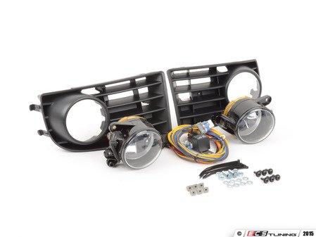 ES#2718437 - 1K0998008 - Fog Light Conversion Kit - 5 Bar Grille - Complete fog light installation kit for your MKV Rabbit - includes bulbs - Assembled By ECS - Volkswagen