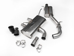 "ES#2828229 - SSXVW220 - 3"" Cat-Back Exhaust System - Resonated - Get that Exhaust tone you've been looking for! Features 3"" construction with 4"" Black Velvet ""GT100"" style tips. - Milltek Sport - Volkswagen"