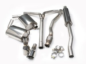 "ES#2827808 - SSXM020 - Cat-Back Exhaust System - Resonated - 2.50"" stainless steel with dual 100mm Jet polished tips - Milltek Sport - MINI"