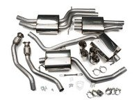 """ES#2827527 - SSXAU410 - Cat-Back Exhaust System - Resonated - 2.37"""" stainless steel with quad 100mm polished tips - Milltek Sport - Audi"""