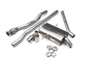 "ES#2827812 - SSXM025 - Cat-Back Exhaust System - Non-Resonated Twin Round GT80 - 2.50"" stainless steel with Twin Round polished tips - Milltek Sport - MINI"