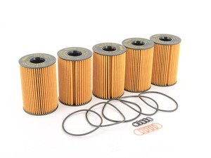 ES#1892702 - 11427583220 - Oil Filter - 5 Pack - Stock Up And SAVE! - With O-ring seal - Genuine BMW - BMW