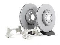 ES#8707 - 1K0698001 - Front Big Brake Kit - Plain Rotors (312x25) - Upgrade from 288mm to 312mm rotors from the Jetta GLI. Reuses factory calipers, pads, and hardware! - Assembled By ECS - Volkswagen