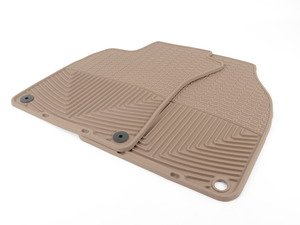 ES#2194998 - W67TN - Front All-Weather Floor Mats - Tan - All-weather protection to endure the harshest conditions - WeatherTech - Audi