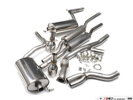 "ES#2827262 - SSXAU049 -  Cat-Back Exhaust System - Resonated - 2.5"" stainless steel with dual Jet 100mm polished tips - Milltek Sport - Audi"