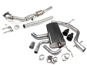 """ES#2862464 - tbmk6gti5KT - MK6 GTI 2.0T 2.75"""" Turbo Back Exhaust System - Non-Resonated - Get that Exhaust tone you've been looking for! Features 2.75"""" cat-back construction with black dual 4"""" """"GT100"""" style tips, and a 3"""" downpipe with a high-flow cat - Milltek Sport - Volkswagen"""