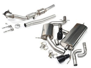 """ES#2862518 - tbmk6gti9KT - MK6 GTI 2.0T 2.75"""" Turbo Back Exhaust System - Resonated - Get that Exhaust tone you've been looking for! Features 2.75"""" turboback construction with black dual 4"""" """"Jet"""" style tips - Milltek Sport - Volkswagen"""