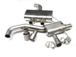 "ES#2828231 - SSXVW222 - 3"" Cat-Back Exhaust System - Resonated - Get that Exhaust tone you've been looking for! Features 3"" construction with 4"" Titanium ""GT100"" style tips. - Milltek Sport - Volkswagen"