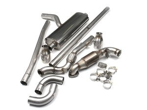 """ES#2827814 - SSXM400 - Turbo-Back Exhaust System - (NO LONGER AVAILABLE) - 2.50"""" stainless steel with dual 100mm GT100 polished tips : includes Hi-Flow Sport Cat - Milltek Sport -"""