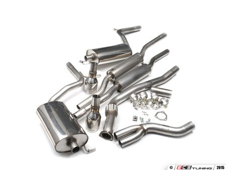 """ES#2827276 - SSXAU090 - Cat-Back Exhaust System - Resonated - 2.5"""" stainless steel with dual 100mm polished tips - Milltek Sport - Audi"""