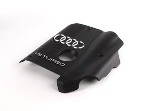 ES#2661783 - 058103721D - Engine Cover - Priced Each - Includes the securing hardware, Audi rings and '1.8 TURBO' insignia - Genuine Volkswagen Audi - Audi