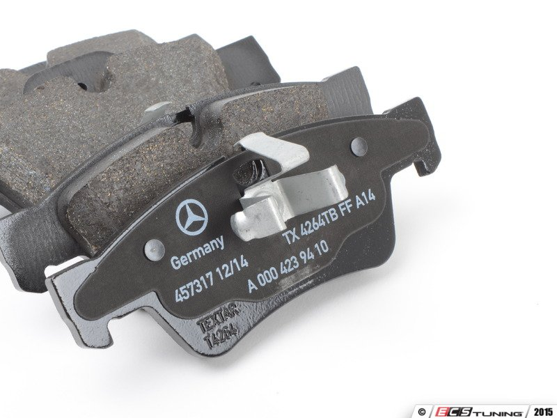 Genuine mercedes benz 0084205320 rear brake pad set for Mercedes benz gl450 brake pads