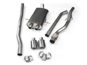 "ES#2827811 - SSXM024 - Cat-Back Exhaust System - Non-Resonated Twin Oval Jet - 2.50"" stainless steel with Twin Oval Jet polished tips - Milltek Sport - MINI"