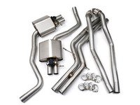 """ES#2827482 - SSXAU365 - Cat-Back Exhaust System - Valvesonic Non-Resonated - 2.75"""" stainless steel and retains stock exhaust tips - Milltek Sport - Audi"""