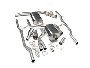 "ES#2827433 - SSXAU309 - Cat-Back Exhaust System - Non-Resonated - 2.5"" stainless steel with dual Jet 100mm polished tips - Milltek Sport - Audi"