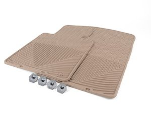 ES#2194891 - W24TN - Front All-Weather Floor Mats - tan - All-weather protection to endure the harshest conditions - WeatherTech - BMW Porsche