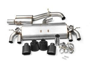 "ES#2828261 - SSXVW258 - Valved Cat-Back Exhaust System - Resonated - Get that Exhaust tone you've been looking for! Features 3"" construction with quad Black Velvet oval tips. - Milltek Sport - Volkswagen"