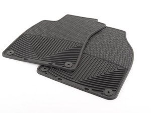 ES#2194996 - W67 - Front All-Weather Floor Mats - Black - All-weather protection to endure the harshest conditions - WeatherTech - Audi
