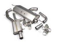 "ES#2827600 - SSXAU485 - Cat-Back Exhaust System - Resonated - 3"" stainless steel with dual GT100 polished tips - Milltek Sport - Audi"