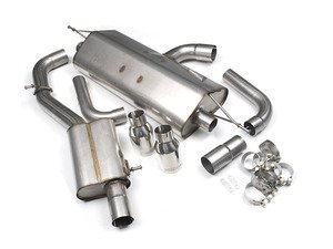"""ES#2827600 - SSXAU485 - Cat-Back Exhaust System - Resonated - 3"""" stainless steel with dual GT100 polished tips - Milltek Sport - Audi"""