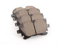 ES#2063841 - EUR1018 - Rear Euro Ceramic Brake Pad Set - For those looking for a low dust replacement brake pad - Akebono - Audi