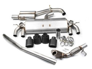 "ES#2862453 - tbmk7r4KT - 3"" Valved Turbo Back Exhaust System - Resonated - Get that Exhaust tone you've been looking for! Features 3"" construction with quad Black Velvet oval tips and a high flow cat. - Milltek Sport - Volkswagen"