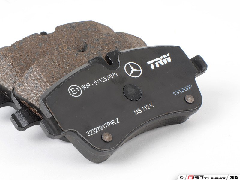 ecs news mercedes benz w203 brake pad service kits