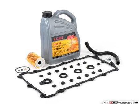 ES#2855460 - 11121721876KT - Comprehensive Valve Cover Gasket Install Kit - Complete valve cover gasket set, breather hose, and oil service kit. Make your gasket replacement one-and-done! - Assembled By ECS - BMW