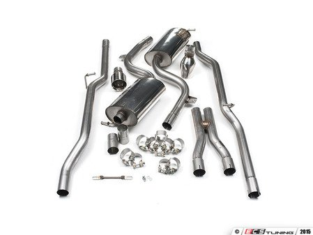 "ES#2827419 - SSXAU295 -  Cat-Back Exhaust System - Non-Resonated - 2.25"" stainless steel with dual GT 100mm polished tips - Milltek Sport - Audi"
