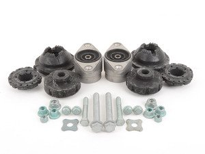 ES#2707817 - 4F0412377DKT - Cup Kit/Coilover Installation Kit - Everything you need for a quick and easy install - Assembled By ECS - Audi
