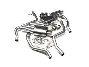 """ES#2827493 - SSXAU376 - Cat-Back Exhaust System - Non-Resonated Race Version - 2.37"""" stainless steel with quad 100mm polished tips - Milltek Sport - Audi"""