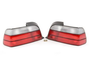 ES#2808261 - 4441908PUECR - Red/clear Tail Light Set  - Dress to impress with new tail lights! - Depo - BMW