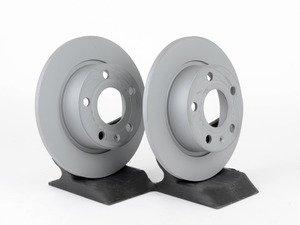 ES#2784323 - 1K0615601ABKT2 - Rear Brake Rotors - Pair (253x10) - Restore the stopping power in your vehicle - Zimmermann - Audi Volkswagen