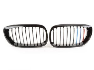 ES#2826972 - BM01-4604///-BK - Blackout Grille Set - Gloss Black Tri-Color - (NO LONGER AVAILABLE) - Add style and individuality to your BMW in minutes! - ECS -