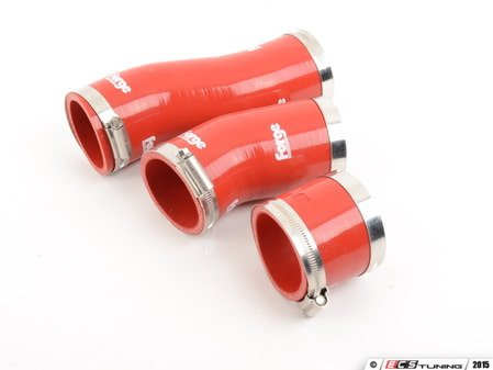 ES#1832524 - FMKT007R - Lower Intercooler Boost Hose Kit - Red - 3 Piece kit used on the stock twin intercoolers - Forge - Audi