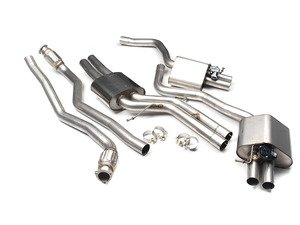 """ES#2827481 - SSXAU364 - Cat-Back Exhaust System - Valvesonic Resonated - 2.75"""" stainless steel and retains stock exhaust tips - Milltek Sport - Audi"""