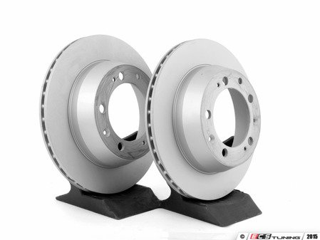 """ES#2593286 - 94435204102KT1 - Z-Coated Rear Brake Rotors - Pair 11.37"""" (289mm) - Rear axle fitment - Both left and right - Zimmermann - Porsche"""