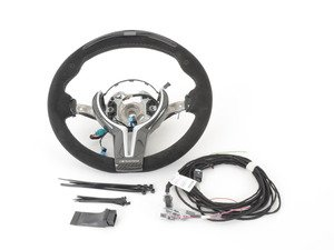 ES#2767403 - 32302344148 - BMW Performance Steering Wheel - Features a multifunction display, adjustable shift lights, and alcantara covered gripping surfaces - Genuine BMW M Performance - BMW