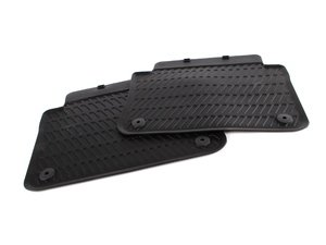 ES#10868 - 4E0061511041 - All Weather Floor Mats - Rear, Black - Great looking & great performing mat for your A8. Rear European Style - Genuine Volkswagen Audi - Audi
