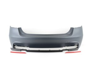 ES#2842194 - 012196ecs04a - M Sport Style Rear Bumper - Dual Exit - Add the more aggressive front bumper from the M Sport package - ECS - BMW