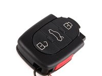 ES#377307 - 4D0837231M01C - Three Button Remote Transmitter - Satin Black - Priced Each - Also known as the 'key fob' - Genuine Volkswagen Audi - Audi