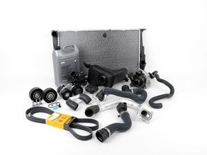 ES#2739952 - 11510392553RKT2 - ECS Cooling System Refresh Kit - Level 3 - Everything you need to totally service your cooling system, including a radiator and belt service. Now Includes ECS Billet Aluminum Radiator Drain Plug! - Assembled By ECS - BMW